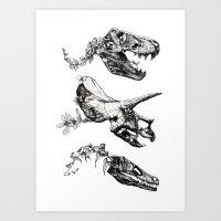 Art Prints featuring Jurassic Bloom. by Sinpiggyhead