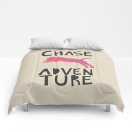 Chase Adventure, nursery art, children's art Comforters