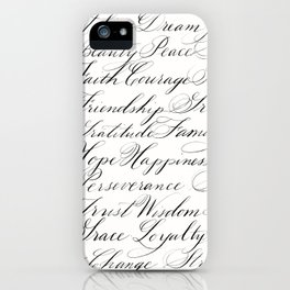 Inspirational Words II iPhone Case