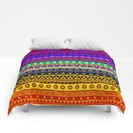 Rainbow Stripes Pattern Comforters