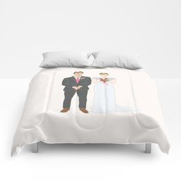 This $75 Custom Portrait Is the Most Thoughtful Wedding Gift Ever Comforters