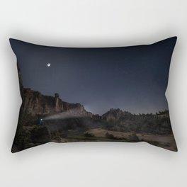 Smith Rock Night Bike Rectangular Pillow