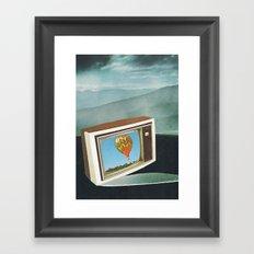 t.v Framed Art Print