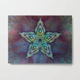 Fractal Star - Geometric - Psychedelic - Manafold Art Metal Print