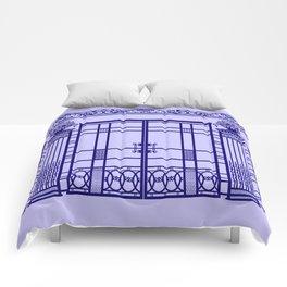 ART DECO, ART NOUVEAU IRONWORK: French Blue Comforters