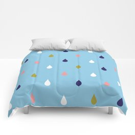 Happy rain drops Comforters
