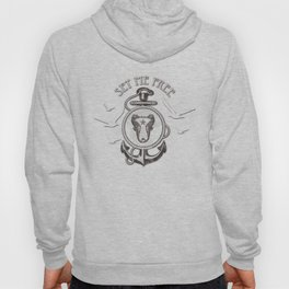 Set me Free Nautical Print Hoody
