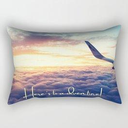 Here's To Adventure! Rectangular Pillow