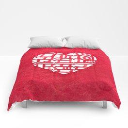 Death Star Heart Watercolor Comforters