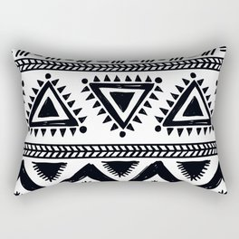 Tribal black and white Rectangular Pillow