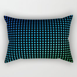 Dark Chromo Diamonds Fresh Rectangular Pillow