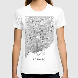 Toronto White Map T-shirt