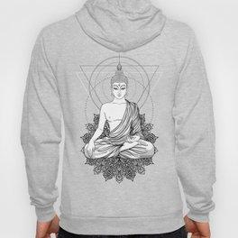 Sitting Buddha isolated on white Hoody