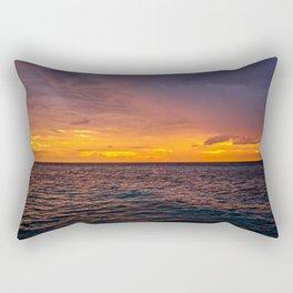 Maldivian Sunset Rectangular Pillow