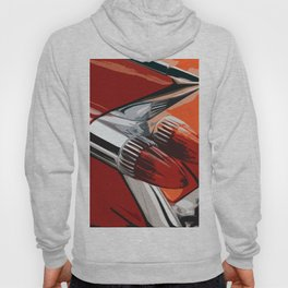 Classic Red Car with Chrome Bullet Lights Hoody