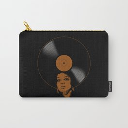 Afrovinyl (Brown) Carry-All Pouch