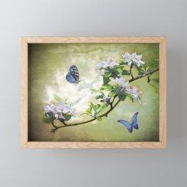 Butterflies and Apple Blossoms Framed Mini Art Print