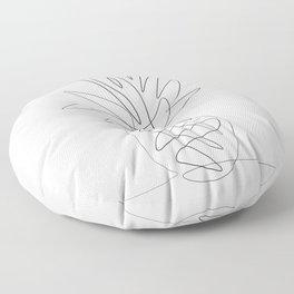 One Line Pineapple Floor Pillow