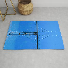 Blue Abstract Of Aviation Rug
