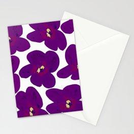 Purple Retro Flowers #decor #society6 #buyart Stationery Cards