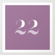 365 Days of Type - 22 Art Print