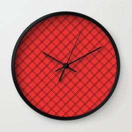 Donated Kidney Pink and Black Halloween Tartan Check Wall Clock