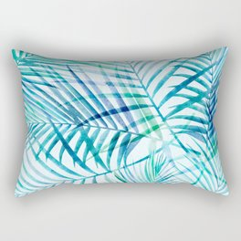 Tropical Palm Pattern Rectangular Pillow