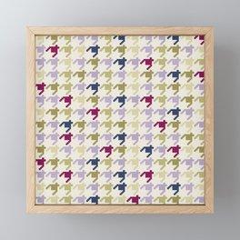 AFE Houndstooth Pattern Framed Mini Art Print