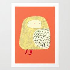 Cute Owl. owl art, owl illustration, owl print, owl decor, nature, Art Print