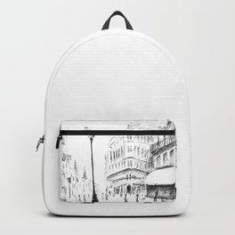 Sketch of a Street in Paris Backpack