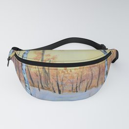 Winter Birches - Cardinal Right Fanny Pack