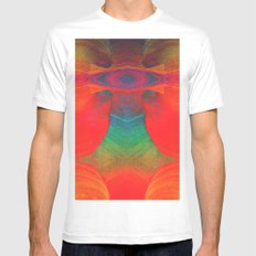 The Bold Arrow of Time_ MEDIUM White Mens Fitted Tee