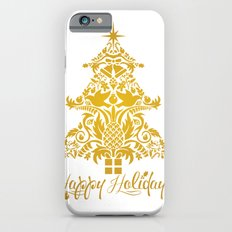 Ornate Pineapple Holiday Tree iPhone 6s Slim Case