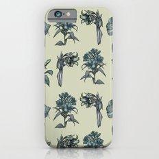Botanical Florals   Vintage Blue iPhone 6s Slim Case