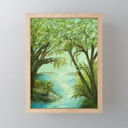 View from the River Bank Framed Mini Art Print