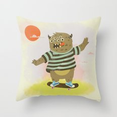 Skate Away Throw Pillow