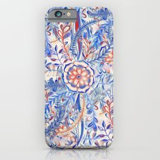 Boho Flower Burst in Red and Blue Slim Case iPhone 6