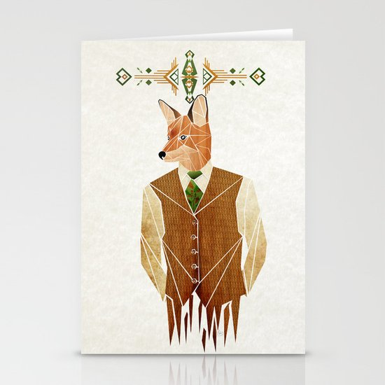 mister fox Stationery Cards