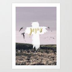 JESUS | EASTER | CROSS Art Print