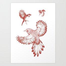A beat of wings Art Print