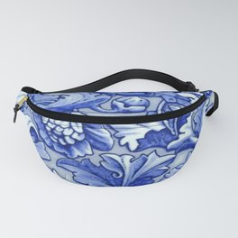 Blue and White Porcelain Fanny Pack
