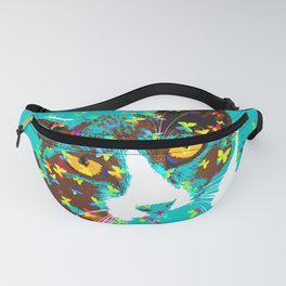 Cat and butterfies Fanny Pack