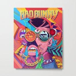 bad bunny album 2020 atin3 Metal Print