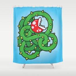 Audrey II: The Piranha Plant Shower Curtain