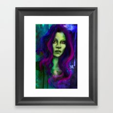 Galaxy within Her Framed Art Print