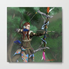 Archer of the woods Metal Print