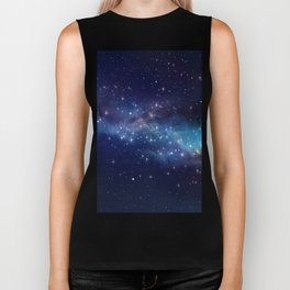 Floating Stars - #Space - #Universe - #OuterSpace - #Galactic Biker Tank