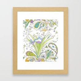 Whimsical Paisley Iris Framed Art Print