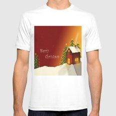 Merry Christmas II Mens Fitted Tee MEDIUM White