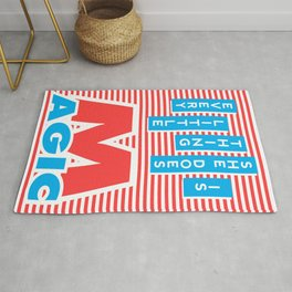 Every Little Thing She Does Is Magic (red version) Rug